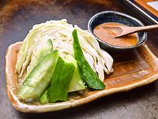 生野菜の旨味噌添